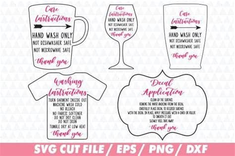 Dannie does decals 1 year ago. Care instructions, Care Instructions svg, Washing ...