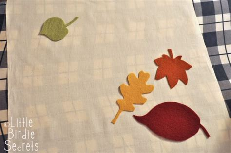 embroidered fall leaf pillow   takes