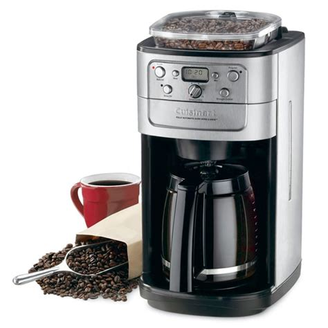 cuisinart grind brew automatic coffee maker  burr grinder  cup cutlery
