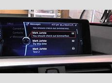 BMW iDrive and iOS 6 Demo Showing Text Message Read by Car