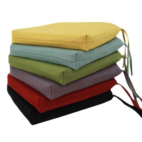 circa reversible 17 x 17 foam seat cushion with ties www