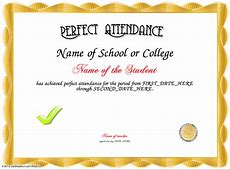 5 Free Perfect Attendance Certificate Templates Word