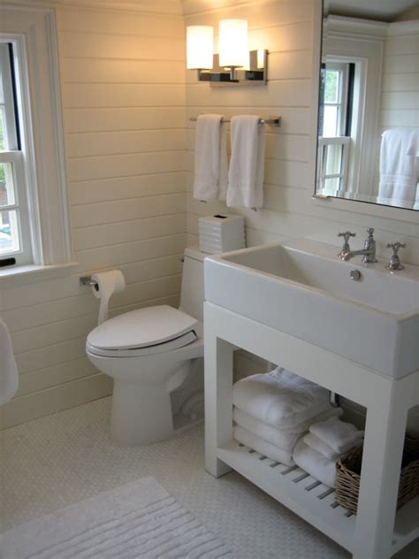 White Washstand  Contemporary  Bathroom  Stone Source