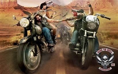 Biker Wallpapers Motorcycle Gangster Ride Hell Bike