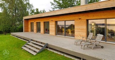 Holz Fertighaus Bungalow moderner bungalow baufritz design bungalow