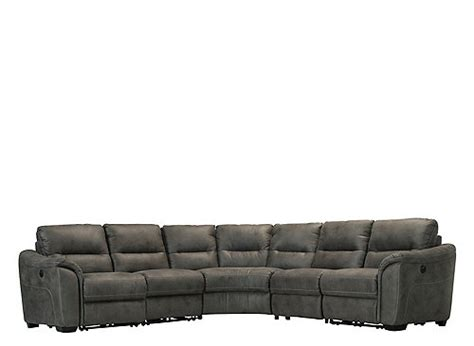 Reclining Sectional Sofas Microfiber by Rockland 5 Pc Microfiber Power Reclining Sectional Sofa