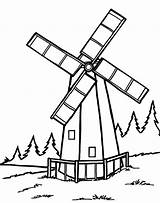 Windmill Coloring Tower Printable Windmills Designlooter sketch template