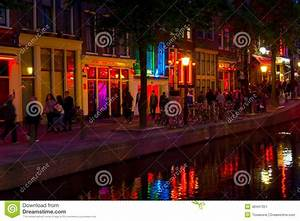 Where Is The Red Light District In Amsterdam Street Name Red Light District In Amsterdam Editorial Photo Image Of