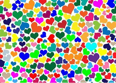 Colorful Hearts Clipart Heart Backgrounds Wallpapersafari Wallpapers