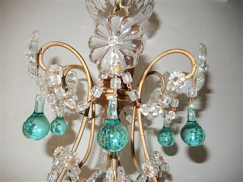 Aqua Chandelier by Aqua Blue Balls And Drops Chandelier Circa