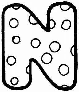 Bubble n letter n pinterest bubbles for Dots alphabet letter