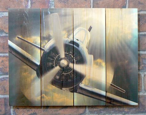 airplane wood outdoor wall art aviation art airplane