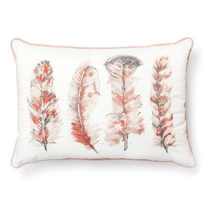 feather pillows target threshold embroidered feather oblong decorative pillow