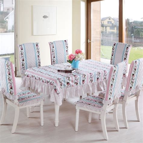 cotton fabric dining table cloth chair pad chair covers
