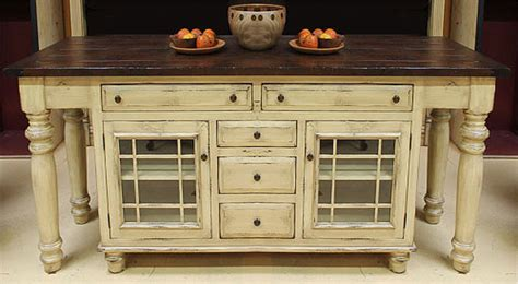 solid wood kitchen island  glass mullion  cabinets