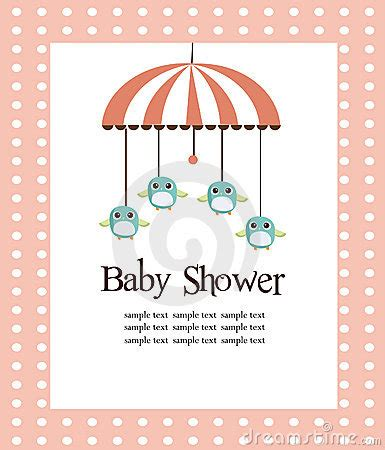 Baby Shower Card For Girls Royalty Free Stock Image