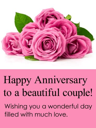 Happy Anniversary Couple Cards