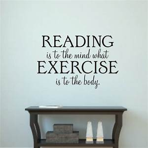 Reading is to the mind wall art quote sticker h k