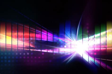 Backdrop Background Design by A Rainbow Graphic Equalizer Design That Stock Photo