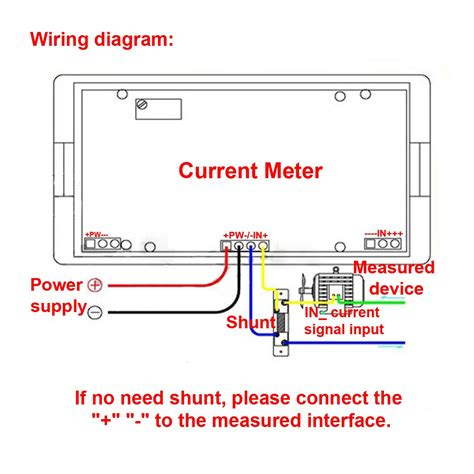 volt meter shunt wiring diagram wiring library
