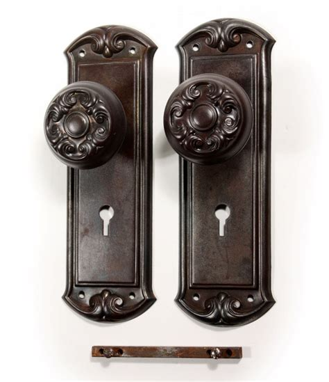 antique door hardware antique door hardware sets with doorknobs plates early