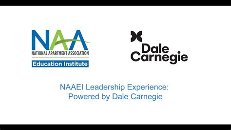 national apartment association dale carnegie leadership