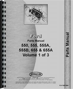 Ford 555b Industrial Tractor Parts Manual
