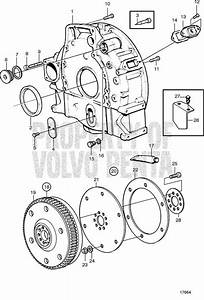 Volvo Penta Exploded View    Schematic Flywheel And