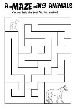 free printable activities and foal maze coloring pages word puzzles kaboose