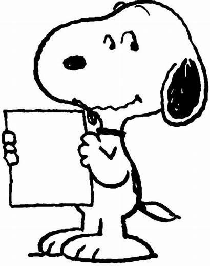 Snoopy Coloring Pages Note Take Paper Tocolor