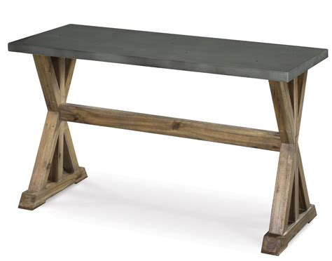 lybrook rectangular sofa table with top and wooden