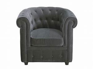 Fauteuil Chesterfield Pas Cher : fauteuil usine deco achat fauteuil chesterfield en velours prix usinedeco 149 00 euros ~ Teatrodelosmanantiales.com Idées de Décoration