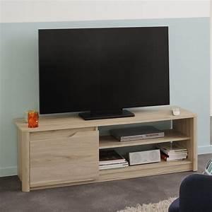 Meuble Tv Beige : meuble tv emy 136cm beige ~ Teatrodelosmanantiales.com Idées de Décoration
