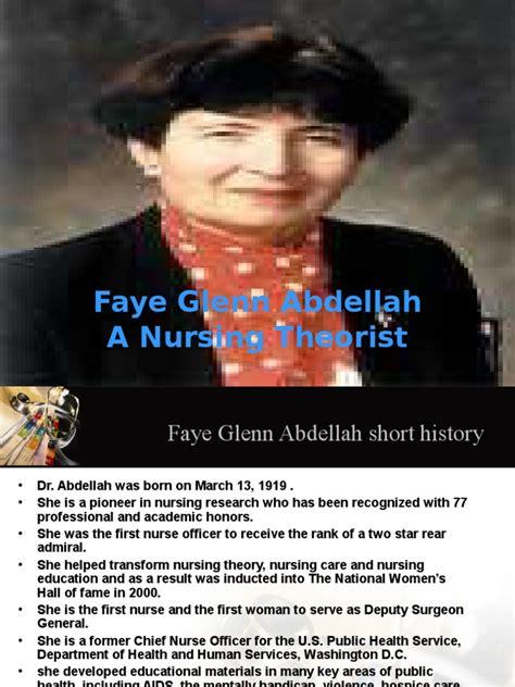 faye glenn abdellah nursing hypothesis