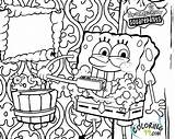 Spongebob Coloring Pages Squarepants Printable Krusty Krab Sponge Bob Patrick Friend He Named Works Restaurant sketch template