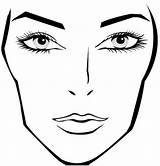 Face Clipart Blank Template Library Makeup Clip Charts Mac Highlight Points sketch template