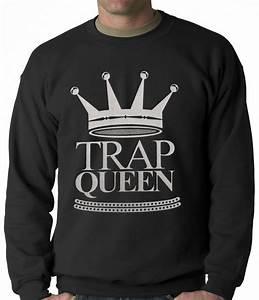 Trap Queen Full Silver Adult Crewneck