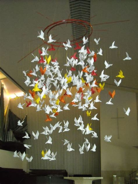 origami doves  weekend pentecost   mom
