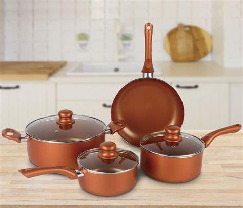 brentwood bps   piece  stick copper cookware set brentwood appliances