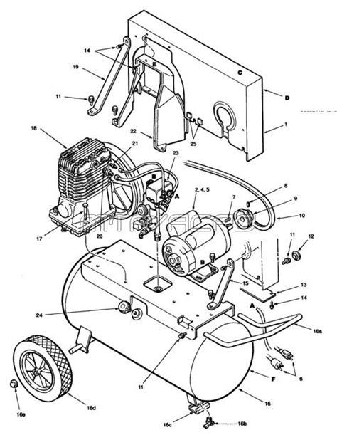 Powermate Air Compressor Wiring Diagram by Coleman Powermate Air Compressor Parts