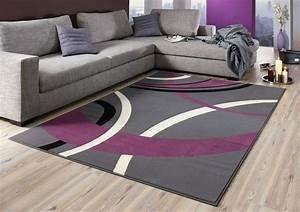 Teppich Grau Lila : design velours teppich kurzflor grau lila creme schwarz 80x150 cm ebay ~ Indierocktalk.com Haus und Dekorationen
