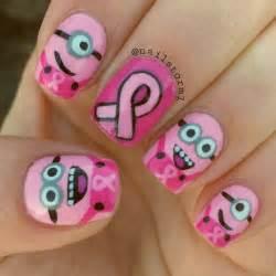 Purple minion nail design art styling