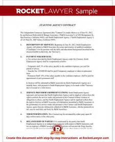 Staffing Agency Contract Agreement