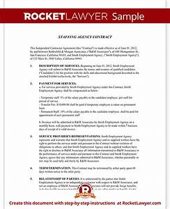 Staffing agency agreement staffing agency contract for Staffing contract template