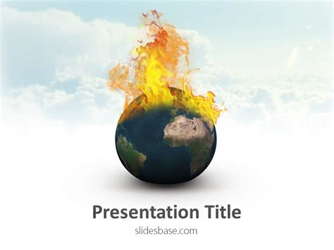 global warming powerpoint template slidesbase