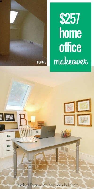remodelaholic  budget home office makeover  diy