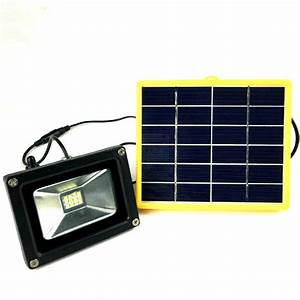 Waterproof w outdoor solar power led flood light with