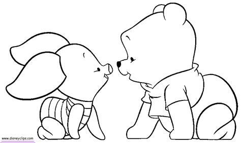 Kleurplaat Winnie The Pooh Baby by Baby Pooh Coloring Pages Page 2 Disney Winnie The Pooh