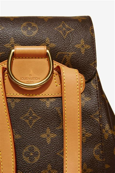 lyst louis vuitton vintage monogram montsouris mm backpack  brown