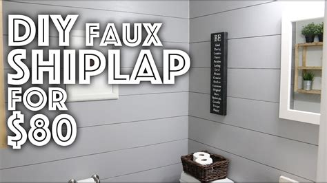Where To Buy White Shiplap by Diy Faux Shiplap For 80